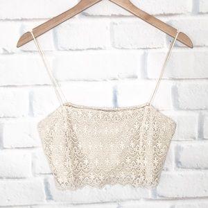 Zara Trafaluc Festival Crochet Crop Top